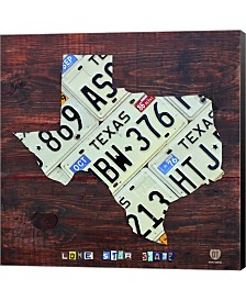 Texas License Plate By Design Turnpike Canvas Art