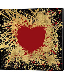 Heart Of Gold 1 By Art Licensing Studio Canvas Art