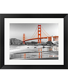 Baker Beach And Gold Framed Art