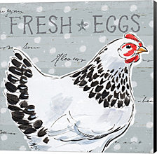 Roosters Call II by Daphne Brissonnet Canvas Art
