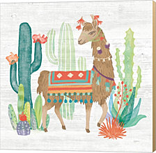 Lovely Llamas III by Mary Urban Canvas Art