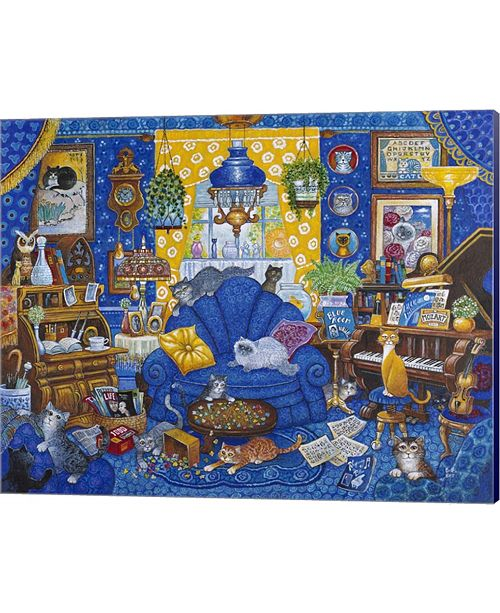 Metaverse My Blue Heaven By Bill Bell Canvas Art