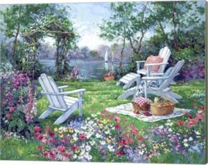 Adirondack Summer By Barbara Mock Canvas Art