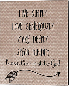 Live Simply by Erin Clark Canvas Art