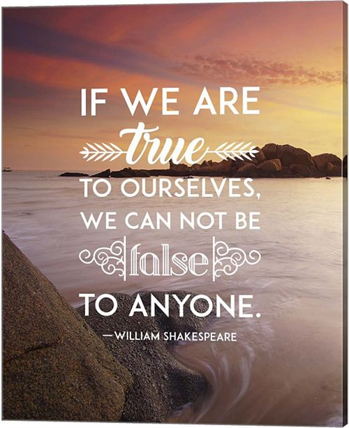 Metaverse If We Are True To Ourselves - Sea Shore By Quote Master Canvas Art