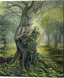 Dryad And The Tree Spirit By Josephine Wall Canvas Art