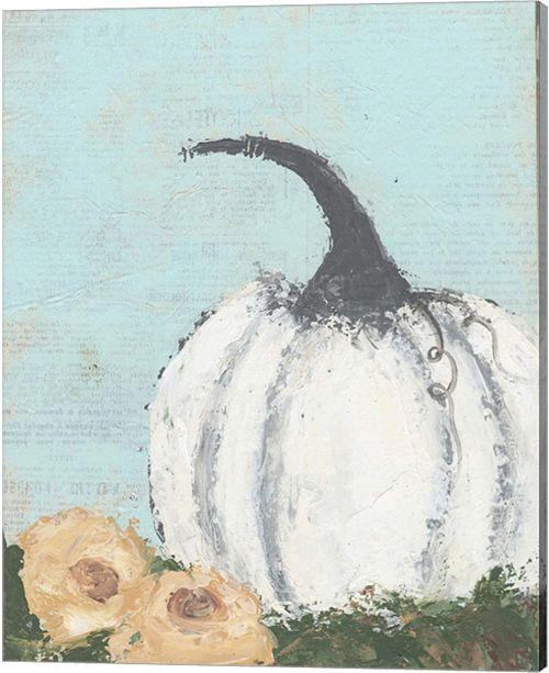 Metaverse Pumpkin Ii By Cassandra Cushman Canvas Art