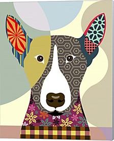 Bull Terrier Dog By Lanre Adefioye Canvas Art