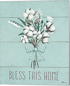 Blessed II Mint by Janelle Penner Canvas Art