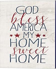 God Bless America By Jo Moulton Canvas Art