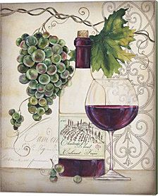 Chateau Plout Wine-B by Jean Plout Canvas Art