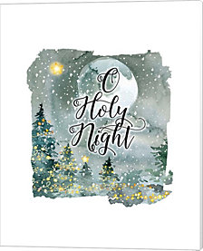 O Holy Night Watercolor by Tara Moss Canvas Art