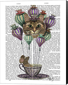 Cheshire Cat Hot Air Balloon by Fab Funky Canvas Art