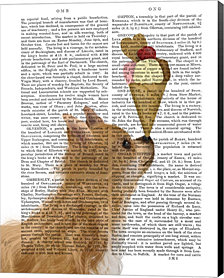 Chihuahua, Long Haired, Ice Cream by Fab Funky Canvas Art