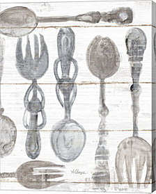 Spoons And Forks Iii Neutral By Albena Hristova Canvas Art