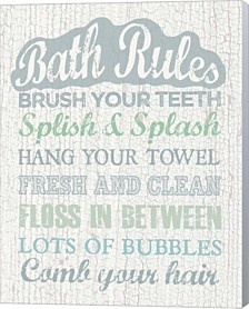 Bath Rules By Erin Clark Canvas Art