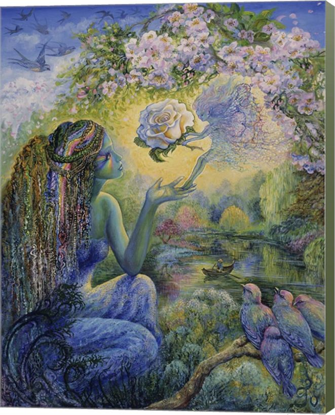 Metaverse The Messenger By Josephine Wall Canvas Art