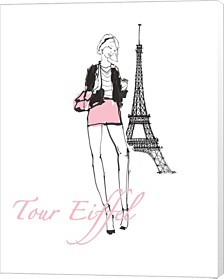 French Chic I Pink On White By Avery Tillmon Canvas Art