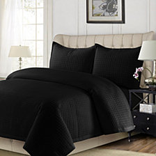 Como Microfiber Solid Oversized King Quilt Set