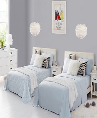 Rampage Mix Match Solid and Print Double Twin XL Sheet Sets