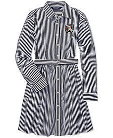 Polo Ralph Lauren Big Girls Bengal-Striped Cotton Shirtdress