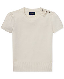 Polo Ralph Lauren Big Girls Short-Sleeve Sweater