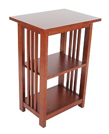 Mission 2 Shelf End Table, Cherry
