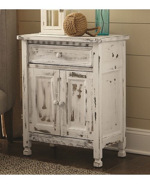main image; main image ... - Bolton Furniture Country Cottage Accent Cabinet, White Antique