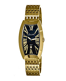 Bertha Quartz Laura Collection Gold And Black Stainless Steel Watch 31Mm