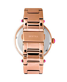 Bertha Quartz Camilla Collection Rose Gold Stainless Steel Watch 38Mm
