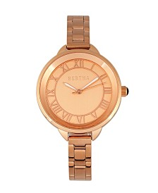Bertha Quartz Madison Collection Rose Gold Stainless Steel Watch 36Mm