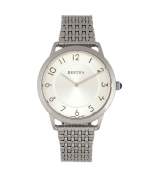 Quartz Abby Collection Silver Stainless Steel Watch 33Mm