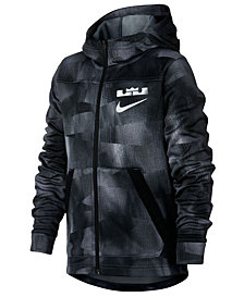Nike Big Boys LeBron Printed Zip-Up Hoodie