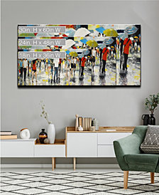 Ready2HangArt 'Crowded Umbrellas' Abstract Canvas Wall Art Collection