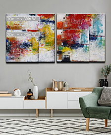 Ready2HangArt 'Red Breeze I/II' 2 Piece Abstract Canvas Wall Art Set Collection