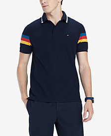 Tommy Hilfiger Men's Jeremy Custom-Fit Stripe-Sleeve Polo