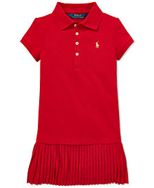 Polo Ralph Lauren Toddler Girls Pleated Polo Dress