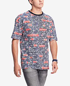 Tommy Hilfiger Denim Men's Brickwall Graphic T-Shirt, Created for Macy's
