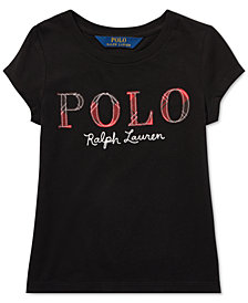 Polo Ralph Lauren Toddler Girls Logo Graphic T-Shirt