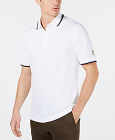Club Room Men's Regular- Fit Stretch Bulldog Sleeve-Logo Polo, Created for Macy's