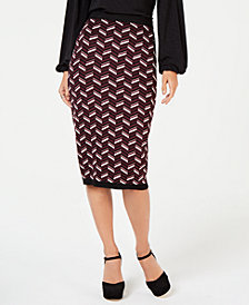 MICHAEL Michael Kors Jacquard Pencil Skirt, in Regular and Petite Sizes
