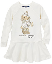 Polo Ralph Lauren Little Girls Holiday Bear Dress