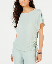 MICHAEL Michael Kors Drawstring-Side Top