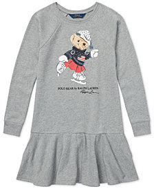Polo Ralph Lauren Big Girls Ice Skating Bear Dress