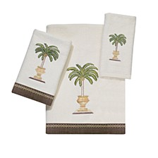 Palm Bay Embroidered Hand Towel