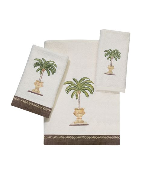 Avanti Palm Bay Embroidered Fingertip Towel