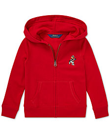 Polo Ralph Lauren Big Girls Full-Zip Ice Skating Bear Hoodie