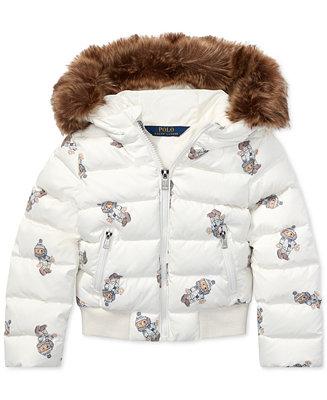 a2bb989f1 Polo Ralph Lauren Toddler Girls Polo Bear Down Jacket & Reviews ...