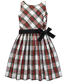 Little Girls Tartan Fit & Flare Dress