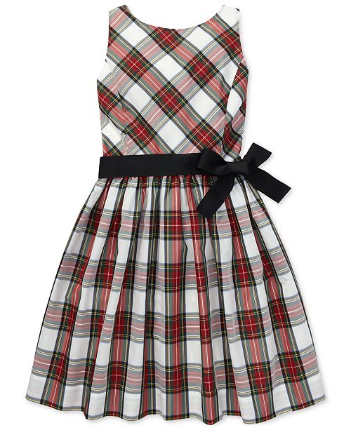 0d2836bf2 Polo Ralph Lauren Little Girls Tartan Fit   Flare Dress   Reviews ...